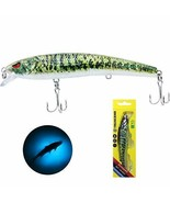 Bass Robotic Fishing Lures Vibrating LED Jerkbait USB Rechargeable Musta... - $47.53+