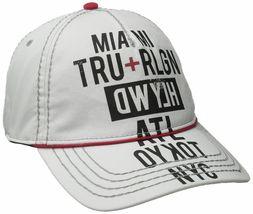 True Religion Men's World Tour Cities Print Baseball Trucker Hat Cap TR1952 image 8