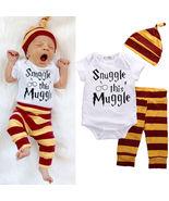 Snuggle this Muggle 3 piece Baby Clothing Set Harry Potter Baby Set - $14.99