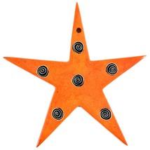 Tabaka Chigware Hand Carved Kisii Soapstone Orange Star Stone Ornament image 2