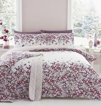 Blumenmuster KASKADIEREND Blumen pink Baumwollmischung Doppel 6 Stück - $66.21
