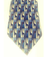 Nature Conservancy Giraffe Tie from Preservation Collection Blue Brown G... - $17.30