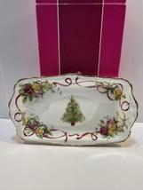 Royal Albert OCR Christmas Tree Bcd S'wich Tray - $84.10