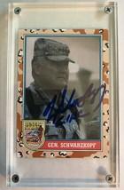 Norman Schwarzkopf (d. 2012) Signed Autographed 1991 Topps Desert Storm ... - $19.99
