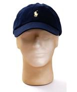 Polo Ralph Lauren Dark Blue Adjustable Cap Hat Yellow Pony Adult One Siz... - $37.12