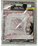 BUCILLA COLORPOINT Paintstitching PILLOW Kit BALLET SHOES 63930 Kit NEW ... - $8.00