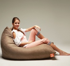 Bonita Relaxation Indoor Bean Bag Beanbag Pouch Cusion Sofa Chair (Brown) image 4