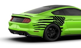 Sticker Decal Vinyl Bed Distorted US Flag Graphic for Ford Mustang GT 20... - $73.50