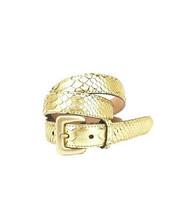 Fausto Colato Womens 20323 Belt Solid 250 Pitone Cosmo Gold Size 85 - $91.56
