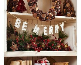 ED On Air Vintage Holiday Phrase Garland by Ellen DeGeneres, BE MERRY - $19.79