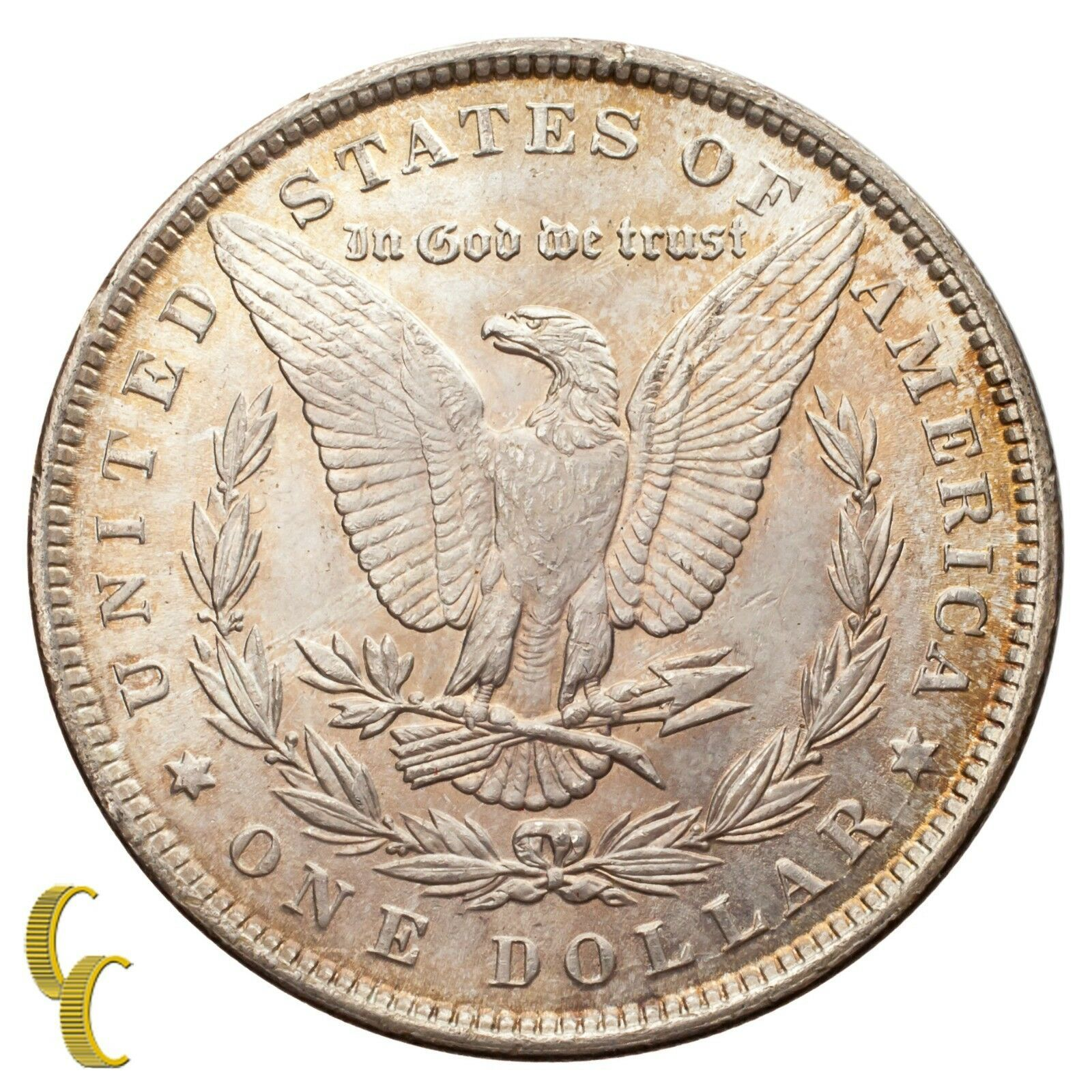 1884 Silver Morgan Dollar (Choice BU Condition) Full Mint Luster image 2