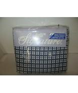 NOS Signature No-Iron 4 Piece Deep Pocket Full Bed Sheet Set-Blue/White ... - $34.95