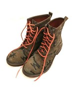 Lucky Brand Camoflauge Moto Lace Up Combat Boots boho army size 5 women's - $67.32