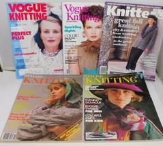 5 Vintage Knitting Pattern Books/Mag Vogue, Stylish 80's & 90's Fashion ... - $13.50