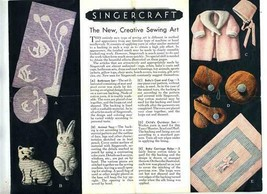 Instructions for Using the Singercraft Guide 1932 Singer Sewing Machine Company - $36.97 CAD