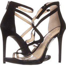 Jessica Simpson Roelyn Heeled Strappy Sandals 608, Black, 10 US / 40 EU - $43.19