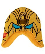 The Transformers Bumblebee Image Knitted Laplander Beanie Hat, NEW UNWORN - $13.54