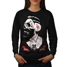 Skull Hipster Beard Jumper Movement Women Sweatshirt - $18.99