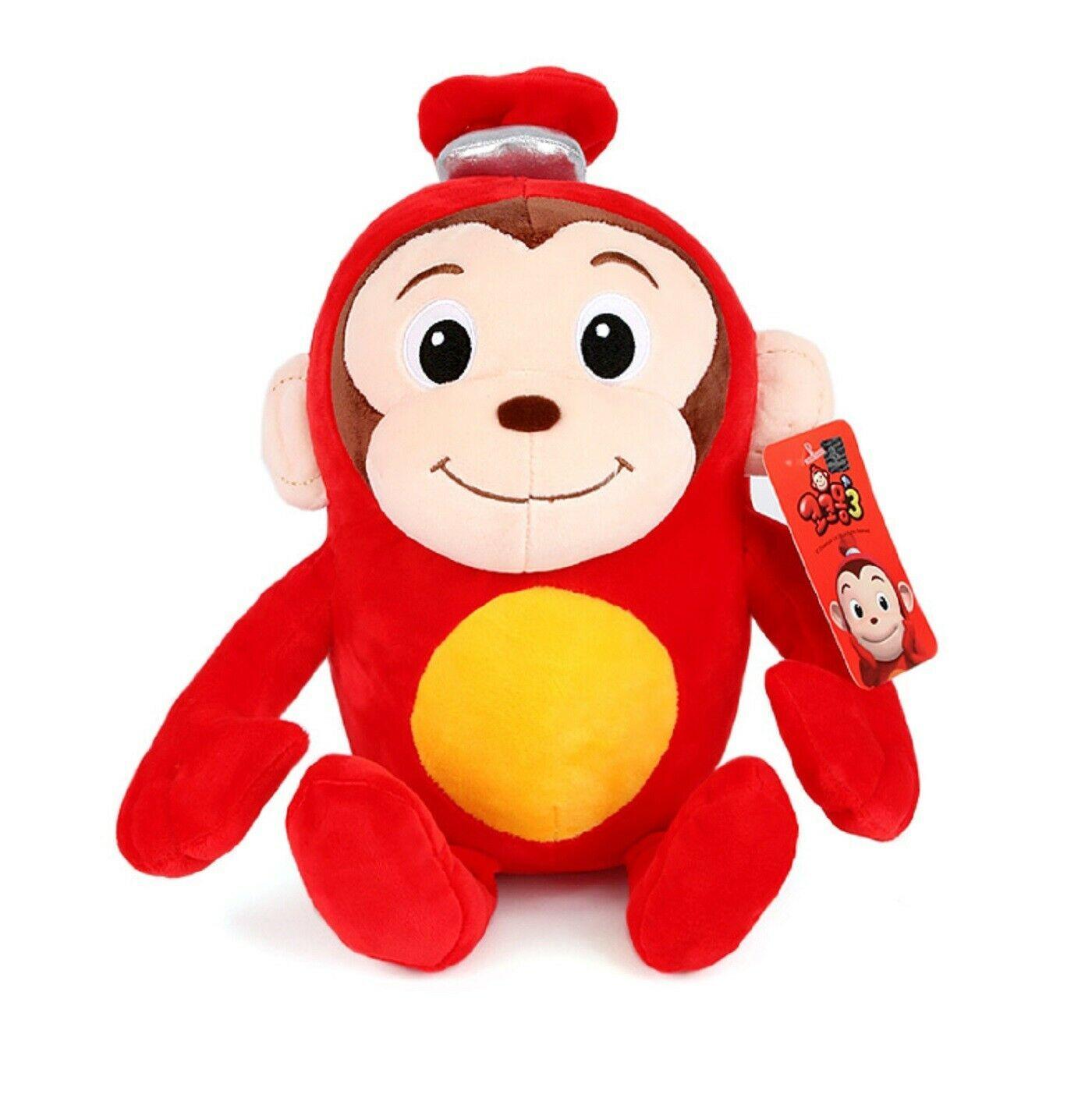 "Toy Trons Coco Mong Stuffed Animal Monkey Plush Toy 9.85"" 25cm"