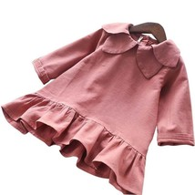 Girls Autumn Long Sleeve Collar Dress Toddlers Baby Casual Clothes Kids ... - $19.99+