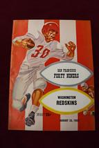 1957 San Francisco 49ers vs Redskins Program Kezar Stadium - $37.25