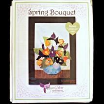 Laurel Anderson Whisper Color Spring Bouquet 20 x 24 Applique Quilt Pattern + CD - $32.99