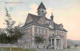 High School Yreka California 1908 postcard - $7.43
