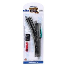 HO Scale Bachmann Trains Snap-Fit E-Z Track Remote Turnout - Left - $34.39