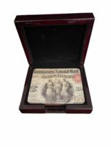 Vintage RARE JP Morgan Chase Bank Coaster Set Case Advertising Collectible image 2