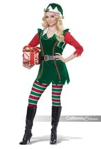 California Costume Festive Elf Adult Womens Christmas Xmas Holiday Costume 01493 - $56.99