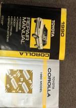 1990 Toyota COROLLA Service Repair Shop Manual Set W ELECTRICAL WIRING D... - $59.39