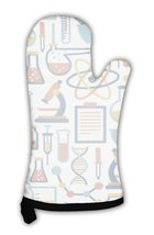 Oven Mitt, Pattern With Flat Science Icons - $24.50+