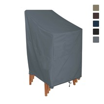 Outdoor Stackable Chair Cover 12 Oz - 100% UV & Weather Resistant Chair ... - $50.48+