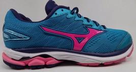 Mizuno Wave Rider 20 Women's Running Shoes Size US 7 M (B) EU 37 Green/Pink