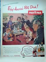 Par-T-Pak Beverages Print Advertisement Art 1952 - $8.99