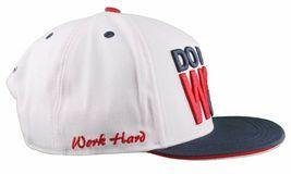Flat Fitty Do More Work Wiz Khalifa SnapBack Baseball Cap Hat Red White Blue NWT image 4