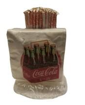 Coca Cola dispenser 1995 Vintage Napkin Straw  Plastic Retro full set co... - $28.71
