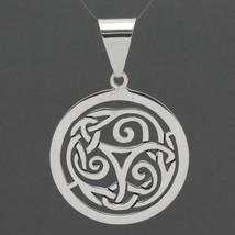 Retired Silpada Sterling Silver Big Celtic Knot Openwork Medallion Penda... - $29.99