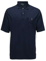 Ralph Lauren Big and Tall Solft Touch Cotton Navy Short Sleeves Polo Shirt   4XB - $52.00