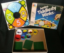 Vintage 1963 Jumbo Tiddledy Winks Game Complete Ages 5 to Adult - $7.72