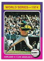 1975 Topps #461 1974 World Series Reggie Jackson, Game 1 - $2.65