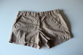 W13216 Womens Khakis By GAP Tan Sunkissed SHORTS Cotton Twill size 6 - $28.96