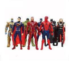 8pcs/set Marvel Heroes Iron Man Spiderman Captain America Thor Hulk Than... - $46.99