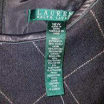 new RALPH LAUREN women sweater vest black 16W - MSRP $185 image 3