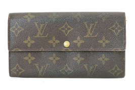 Authentic LOUIS VUITTON Sarah Long Wallet Monogram Zippered Coin Purse #... - $239.00