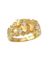 10K Yellow Gold Elegant CZ Nugget Ring - $269.99