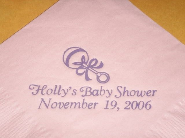 BABY RATTLE LOGO 50 Personalized printed cocktail beverage napkins image 9