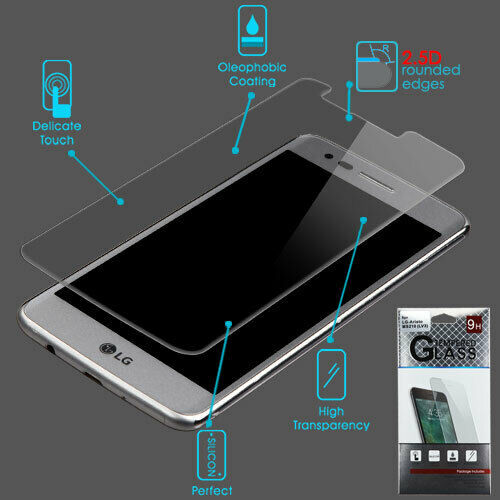 Primary image for For LG Aristo K8 2017 Fortune Rebel 2 Tempered Glass Screen Protector Film Guard