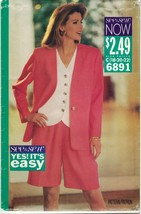 Butterick See & Sew 6891 Jacket, Top, City Shorts Suit Pattern Size 18 2... - $9.79