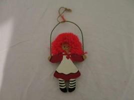 "Kurt S. Adler Raggedy Ann Wood Ornament 3/8""THICK Vintage 7"" Rare Xmas Christmas - $8.90"